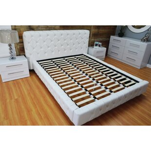 Brayden Studio Haskett Button Tufted Upholstered Platform Bed