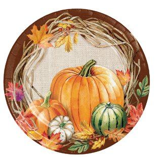 Maja Wreath Paper Appetizer Plate (Set of 24)