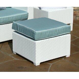 Brayden Studio Loggins Ottoman with Cushion