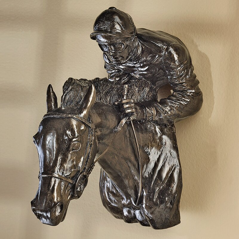 Racing the WindHorse and Jockey Wall Décor