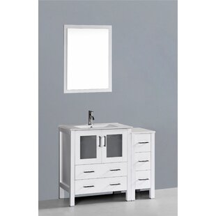 Netto 42 Single Bathroom Vanity Set with Mirror by Ebern Designs