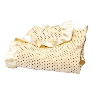 Savings Carignan Dot Velour and Satin Receiving Blanket ByZoomie Kids