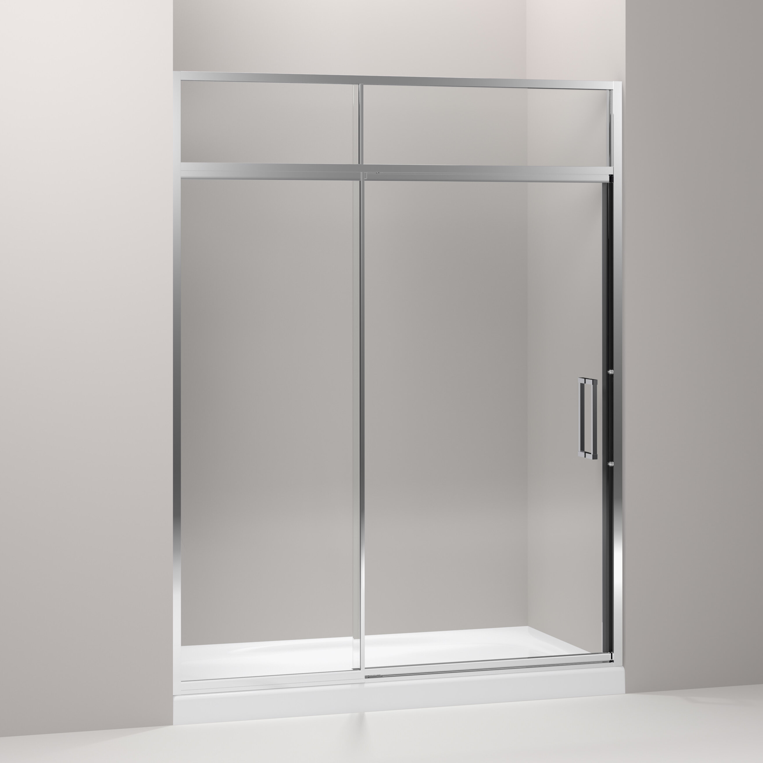 Lattis 60 X 89 5 Pivot Shower Door With Sliding Steam Transom With Cleancoat Technology