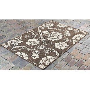 Derlyum Leaves Brown/Beige Indoor/Outdoor Area Rug by Winston Porter