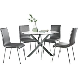 Oradell 5 Piece Dining SetMetal Kitchen   Dining Room Sets You ll Love   Wayfair. Metal Dining Room Table Sets. Home Design Ideas