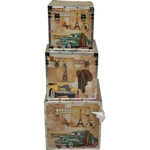 DKMG Decorvilla 3 Piece Trunk Set