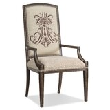 Rhapsody Upholstered Arm Chair in Walnut (Set of 2) by Hooker Furniture