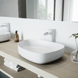 Read Reviews Peony Stone Specialty Vessel Bathroom Sink with Faucet By VIGO