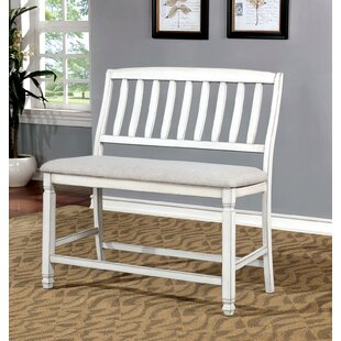 Rue Solid Wood Bench by Highland Dunes