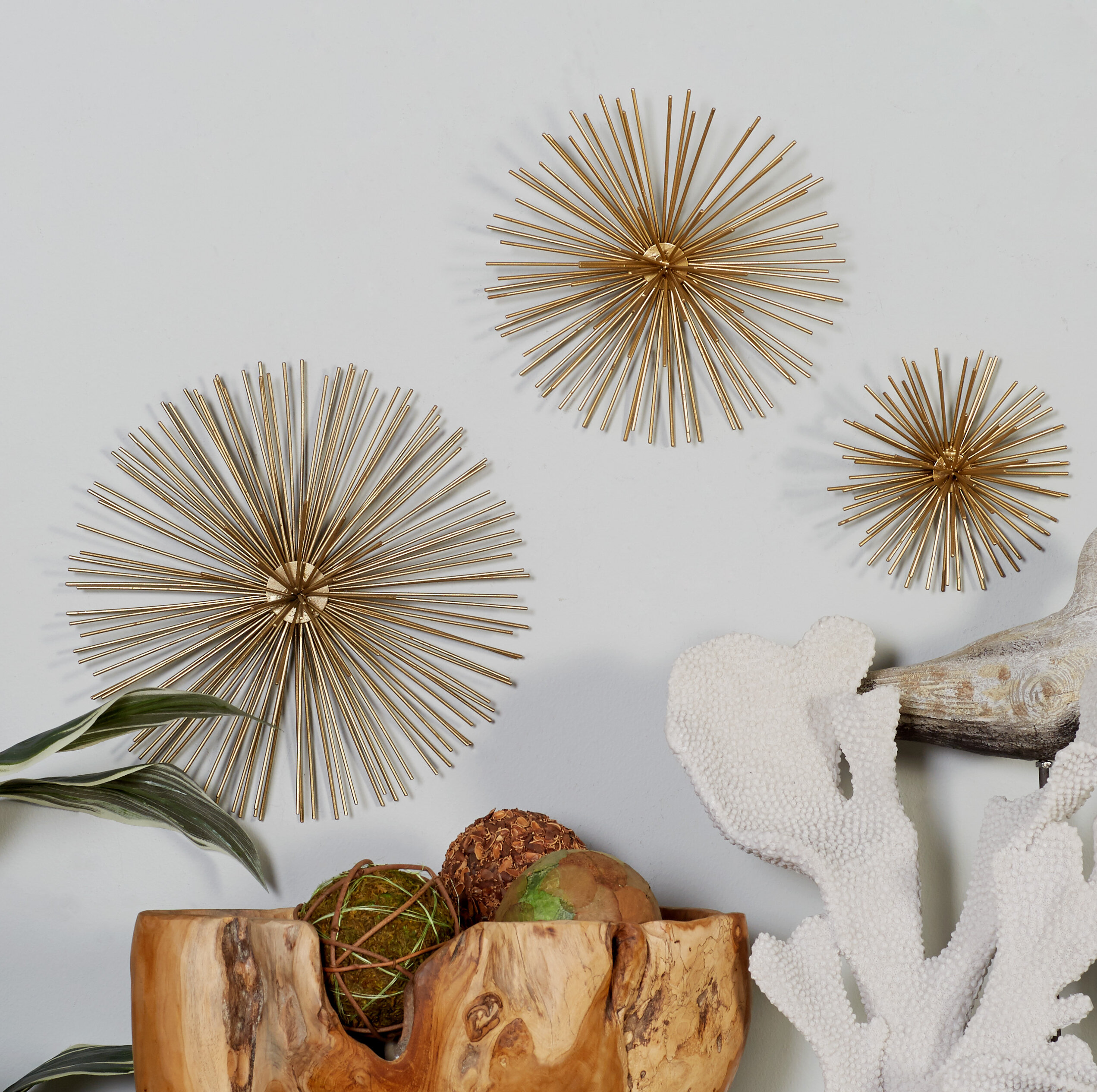 Gold Wall Accents You Ll Love In 2021 Wayfair