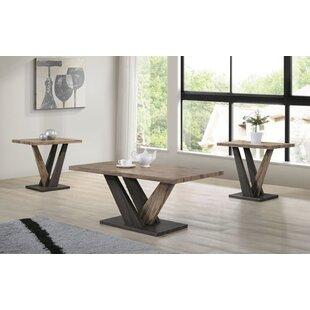 Wrought Studio Latona Wooden Modern 3 Coffee Table Set