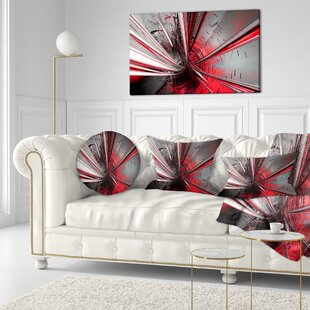 Fractal 3D Deep into Middle Throw Pillow