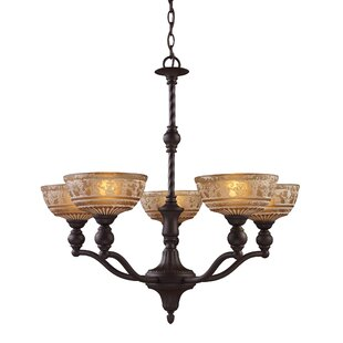 Drumbare 5-Light Shaded Chandelier