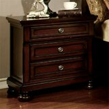 Bayaud 3 Drawer Nightstand by Darby Home Co