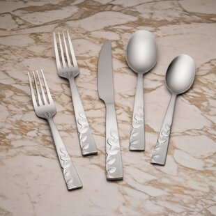 Blossom Sand 20 Piece Flatware Set, Service for 4