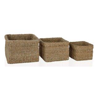 Plastic 3 Piece Basket Set By Beachcrest Home