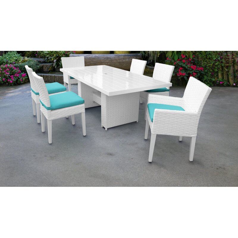 Charmant Monaco 7 Piece Outdoor Patio Dining Set With Cushions