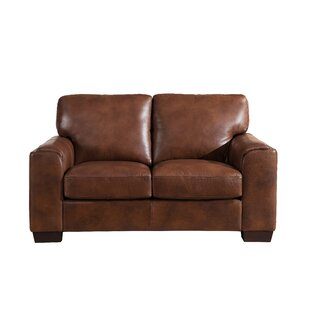Hadley Craft Leather Loveseat