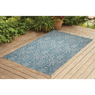 Krauss Turquoise Indoor/Outdoor Area Rug