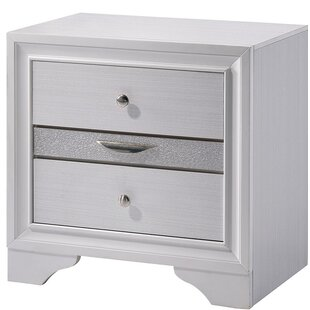 Dorcaster Contemporary Wood 2 Drawer Nightstand by House of Hampton