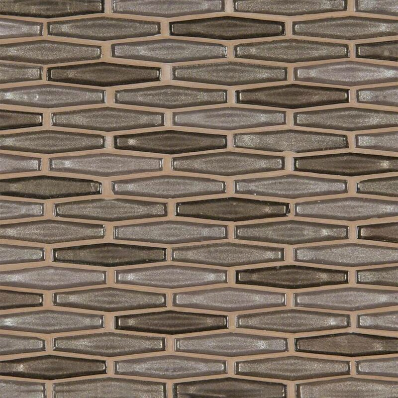 Champagne Estate Gl Mosaic Tile In Brown