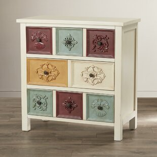 Bungalow Rose Hansali Contemporary 3 Drawer Chest
