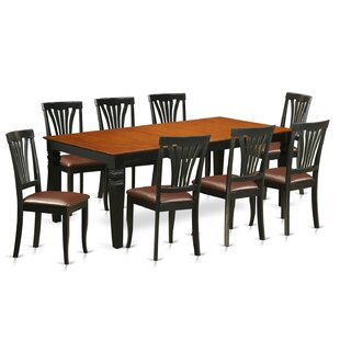 Beesley 9 Piece Extendable Solid Wood Dining Set by DarHome Co Modernt