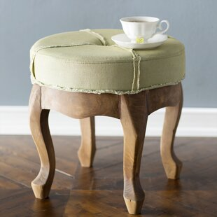 Laurel Foundry Modern Farmhouse Whitehall Rustic Elegance Sage Round Tufted Stool