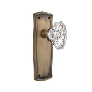 Chateau Single Dummy Door Knob with Prairie Plate by Nostalgic Warehouse