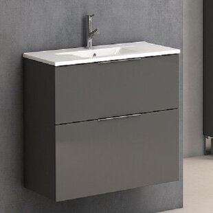 Inexpensive Marius 25 Wall-Mounted Single Bathroom Vanity Set ByOrren Ellis