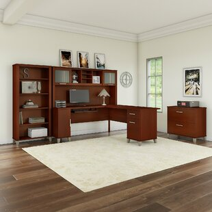 Kirchoff 4 Piece L-shaped Desk Office Suite