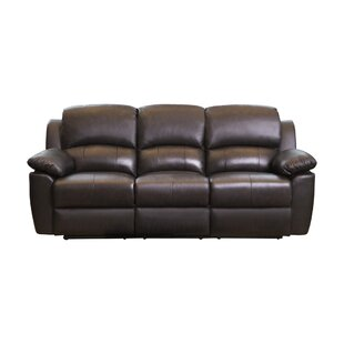 Blackmoor Genuine Leather Reclining Sofa by Darby Home Co