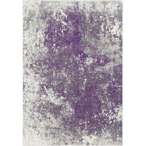 Candelaria Abstract Medium Gray/Dark Purple Area Rug