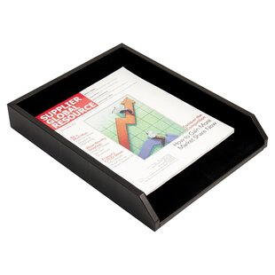 Bey-Berk Burwick Leather Letter Tray