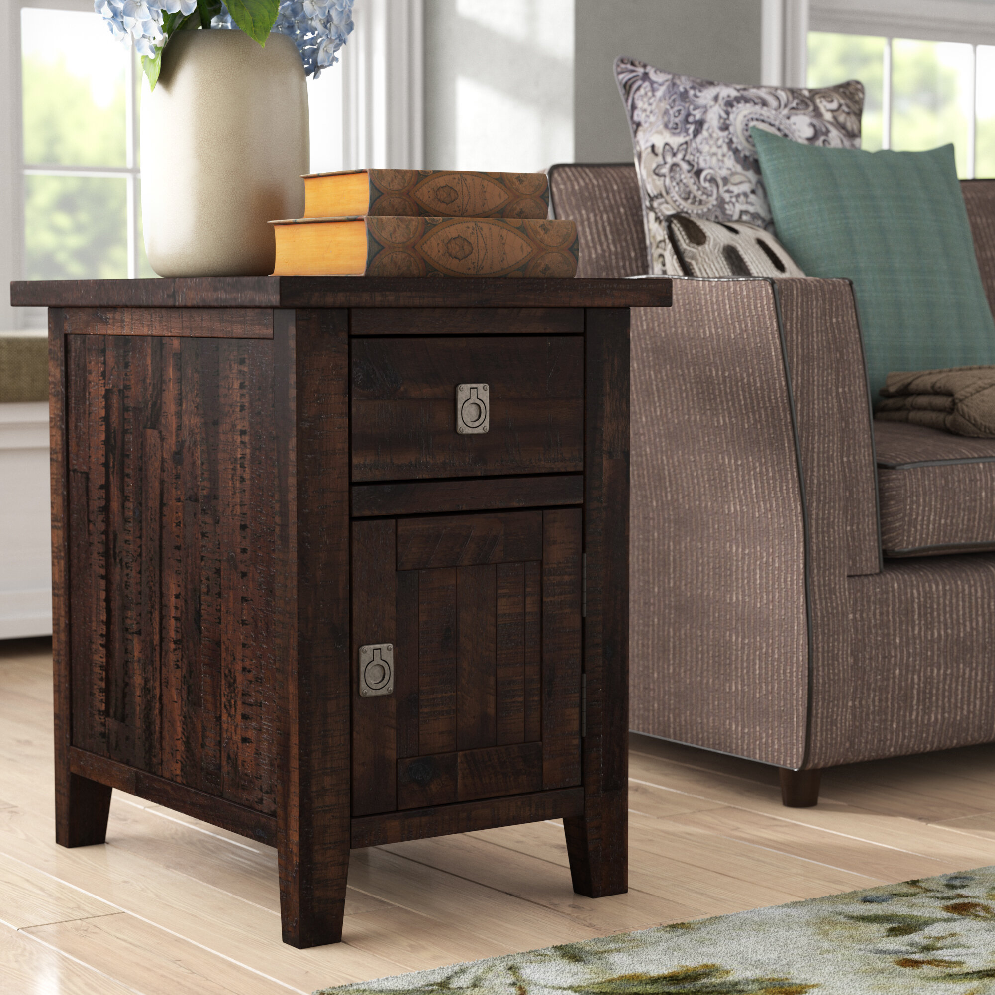 Birch Lane Lombardi End Table With Storage Reviews Wayfair