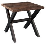 Bowens Railroad Tie and Steel End Table by Loon Peak®