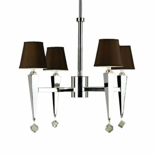 Rosdorf Park Bowermans 4-Light Shaded Chandelier