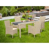 Paynesville Courtyard 5 Piece Dining Set with Cushions