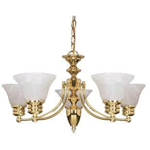 Charlton Home Harbuck 6-Light Shaded Chandelier