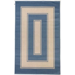 Huber Dark Blue Indoor/Outdoor Area Rug
