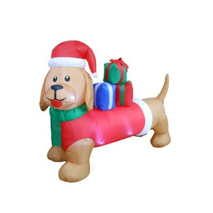 long christmas dog christmas decoration