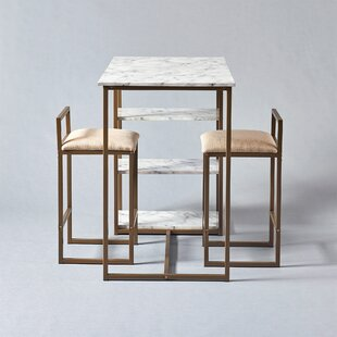 Marmo 3 Piece Dining Set Great Reviews