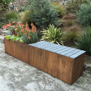 Corten Steel Planter Bench by Nice Planter