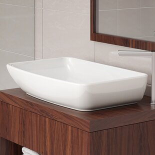 Jasmine Classically Redefined Ceramic Rectangular Vessel Bathroom Sink DECOLAV