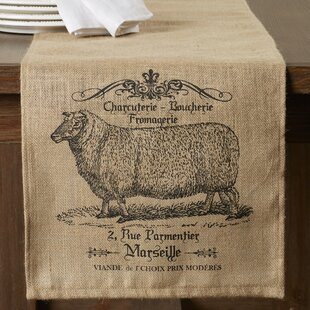 Rosaire Farmhouse Burlap Table Runner