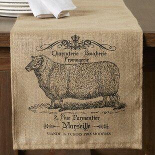 Rosaire Farmhouse Burlap Table Runner