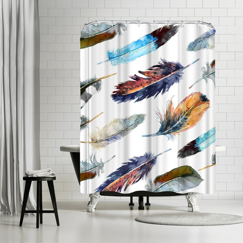 Harrison Ripley Feathers Shower Curtain