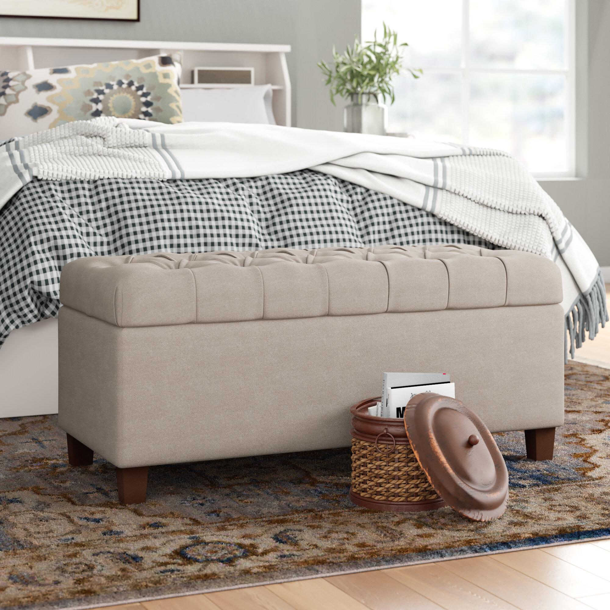 Ranshaw Fabric Upholstered Storage Bench