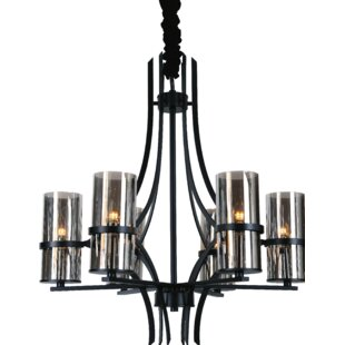 CWI Lighting Vanna 6-Light Shaded Chandelier