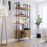 Ava-Lei 74.88'' H x 33.07'' W Metal Etagere Bookcase by Latitude Run®
